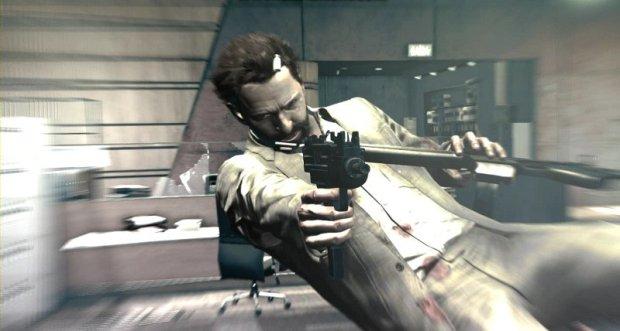 Bullet Cam dalam Max Payne 3 memungkinkan kita melihat Max dari depan seperti ini