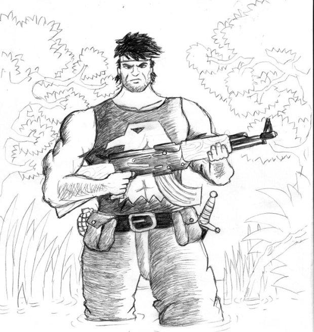 The Falcon -copycat saya dari The Punisher. Sayang, belum sempat jadi komik beneran. :)