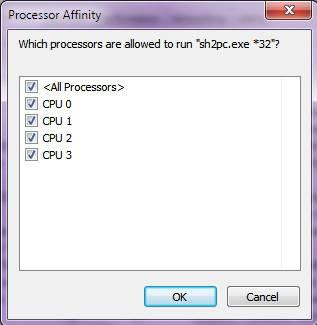 Hilangkan centang sehingga hanya tersisa satu CPU yang tercentang